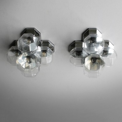 Set of 2 wall lamps from the sixties by Motoko Ishii for Staff