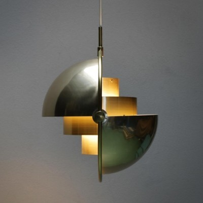 Multi-Lite hanging lamp from the sixties by Louis Weisdorf for Lyfa