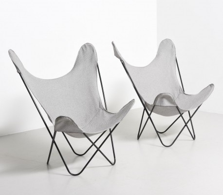 2 Butterfly lounge chairs from the sixties by unknown designer for unknown producer