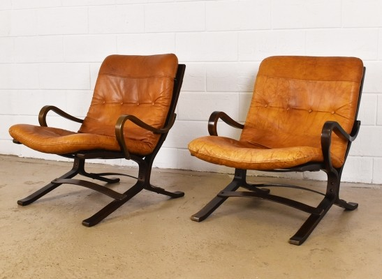 Set of 2 Siesta lounge chairs from the sixties by Ingmar Relling for Westnofa