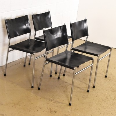 Set of 4 SE06 dinner chairs from the seventies by Martin Visser for Spectrum