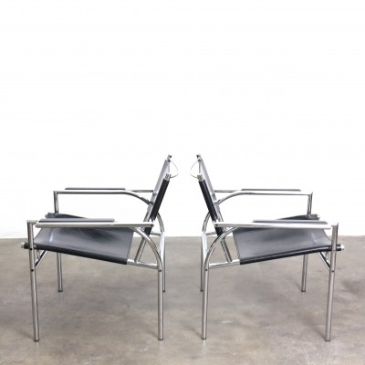 Pair of Model 4735 arm chairs by Gerard Vollenbrock for Leolux