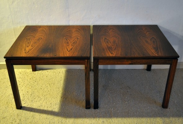 2 side tables from the seventies by unknown designer for unknown producer