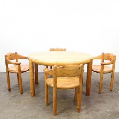 Set of 4 dinner chairs from the sixties by Rainer Daumiller for Hirtshal Sawmill
