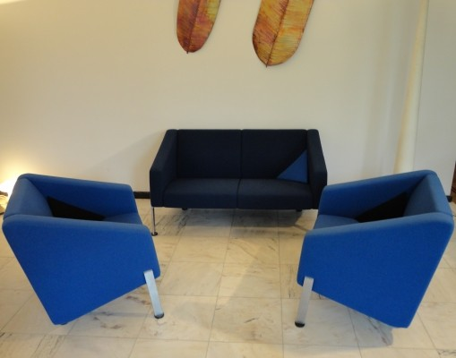Set of 3 Decision series seating groups by Pelikan Design for Fritz Hansen, 1980s
