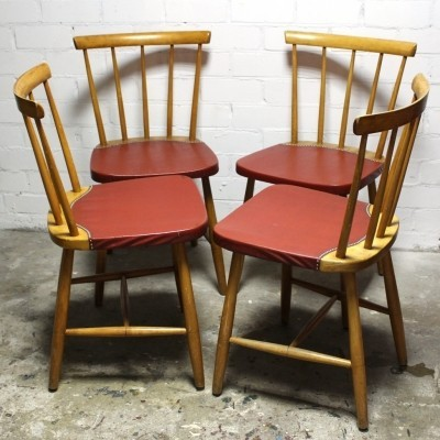 Set of 4 dinner chairs from the sixties by unknown designer for unknown producer