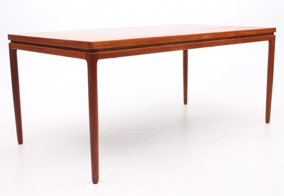 Extension model dining table from the sixties by Ib Kofod Larsen for Christian Linneberg