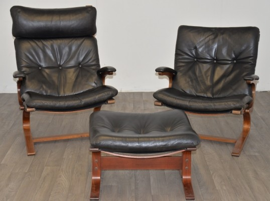 Set of 2 arm chairs from the sixties by unknown designer for Sormani