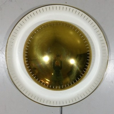 Brass wall / ceiling lamp from the fifties
