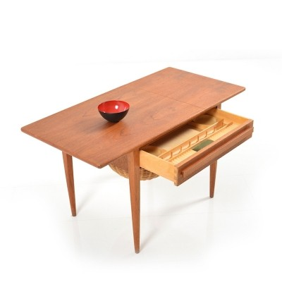 Danish Sewing Table side table from the sixties by unknown designer for unknown producer