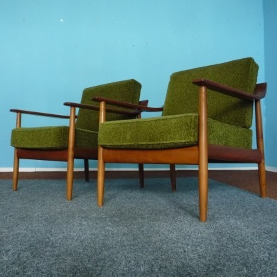 Set of 2 lounge chairs from the fifties by Wilhelm Knoll for Wilhelm Knoll