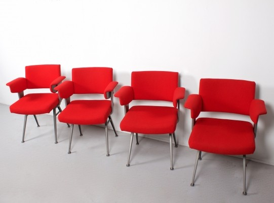 Set of 4 Resort dinner chairs by Friso Kramer for Ahrend de Cirkel, 1950s