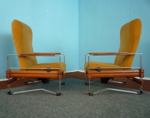 Set of 2 lounge chairs from the sixties by unknown designer for unknown producer