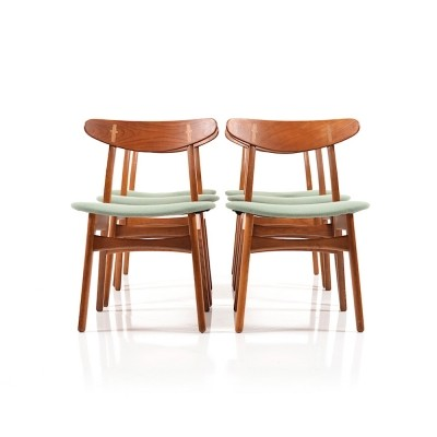 Set of 6 CH28 dinner chairs from the fifties by Hans Wegner for Carl Hansen & Son