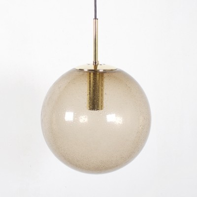 3 Globe hanging lamps from the seventies by unknown designer for Limburg Glashutte