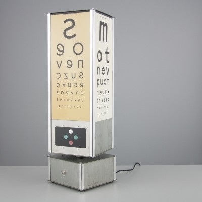 Optometrists box desk lamp from the fifties by unknown designer for unknown producer