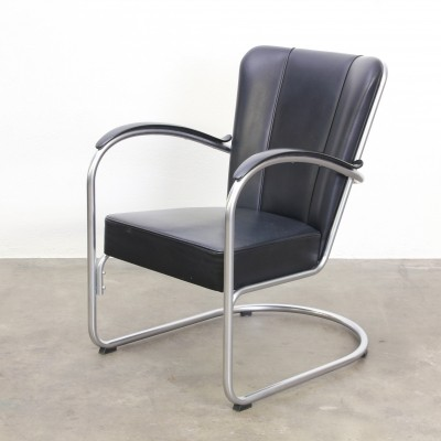 Model 412 arm chair by W. Gispen for Dutch Originals, 1980s