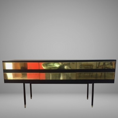 Stunning Italian brass chest of drawers / sideboard