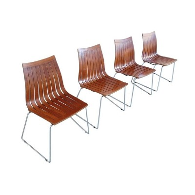 4 Tönnestav dinner chairs from the sixties by Kjell Richardsen for Tynes Møbelfabrik