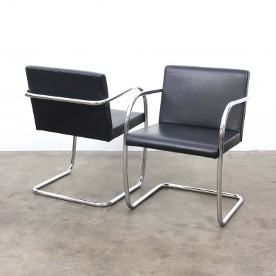 4 x BRNO arm chair by Ludwig Mies van der Rohe for Fasem, 1930s