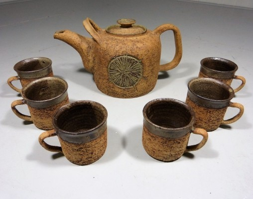 Danish Pottery Tea or Chocolate Drink Set