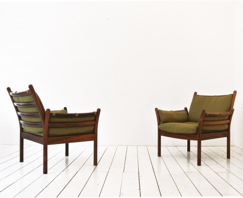 Set of 2 Genius arm chairs from the sixties by Illum Wikkelsø for CFC Silkeborg