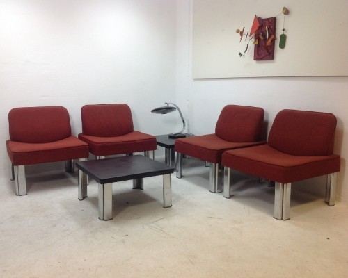 Set of 6 seating groups from the sixties by unknown designer for Evertaut