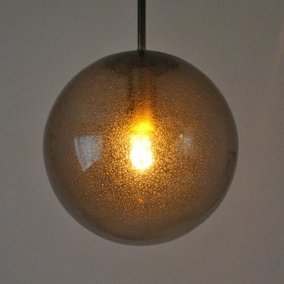 P195 hanging lamp from the sixties by unknown designer for Glashutte Limburg