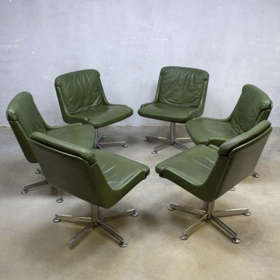 6 office chairs from the sixties by unknown designer for unknown producer