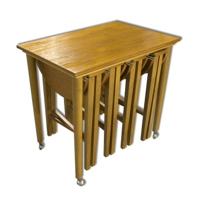 Nesting table from the sixties by Poul Hundevad for unknown producer