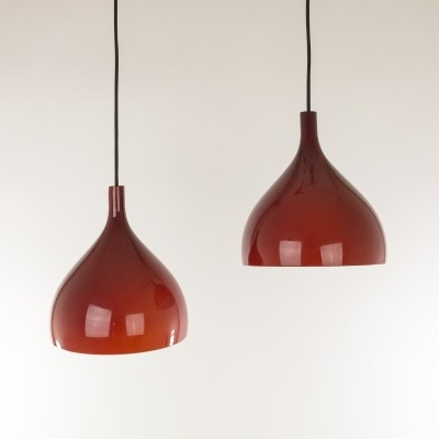 Set of 2 No. 011.0 hanging lamps from the fifties by Massimo Vignelli for Venini