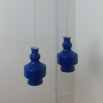 Set of 2 hanging lamps from the sixties by unknown designer for Raak Amsterdam