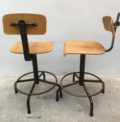 Set of 2 Architect office chairs from the thirties by unknown designer for unknown producer
