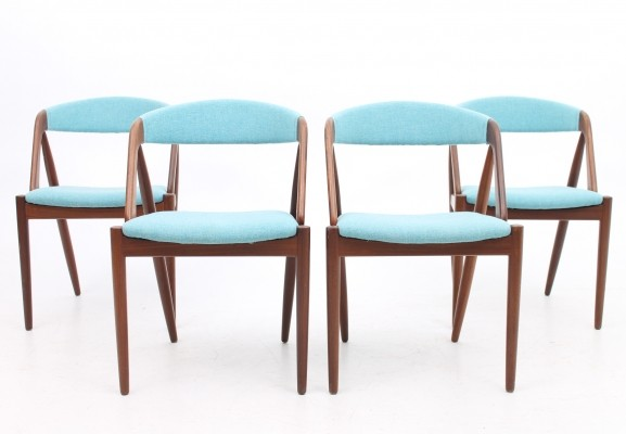 Set of 4 Model 31 dinner chairs from the fifties by Kai Kristiansen for Skovmand & Andersen