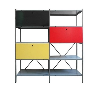 663-2 bookcase wall unit from the fifties by Wim Rietveld for Gispen