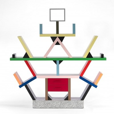 Carlton wall unit from the eighties by Ettore Sottsass for Memphis Milano
