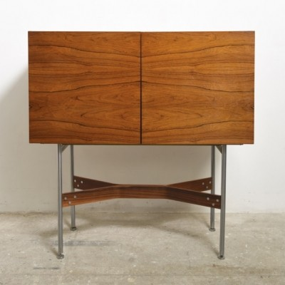Rosewood High Bar Cabinet by Rudolf Glatzel for Fristho, 1960
