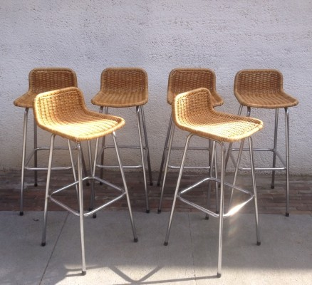 Set of 6 stools from the sixties by Dirk van Sliedregt for Rohé Noordwolde