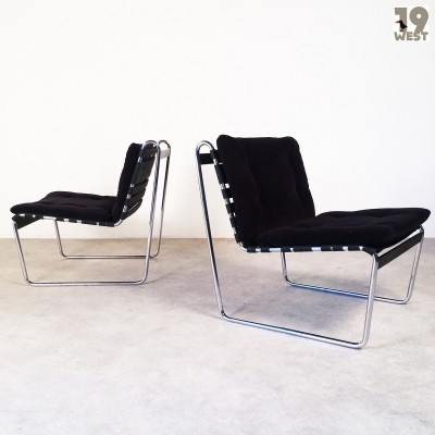 Set of 2 D 96 lounge chairs from the sixties by Hans Könecke for Tecta