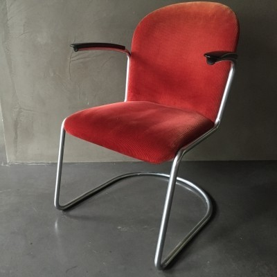 6 413 R dinner chairs from the thirties by W. Gispen for Gispen