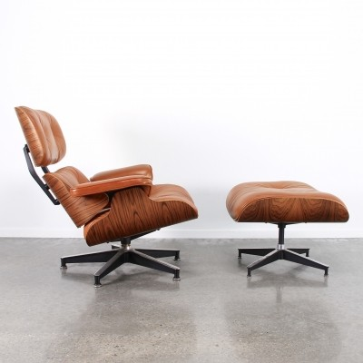 Set of 2 lounge chairs from the seventies by Charles & Ray Eames for Herman Miller