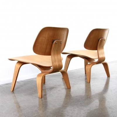 Set of 2 LCW, Evans edition lounge chairs from the forties by Charles & Ray Eames for Evans