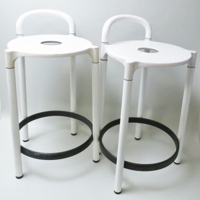 Set of 2 model 4823 stools from the seventies by Anna Castelli Ferrieri for Kartell
