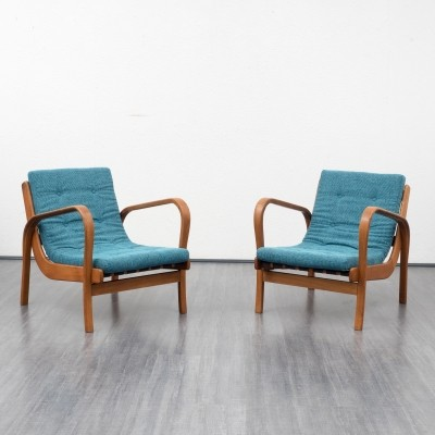 2 x arm chair by K. Kozelka & A. Kropacek for Interier Praha, 1940s
