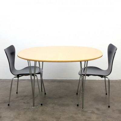 Dining table by Piet Hein for Fritz Hansen, 1950s