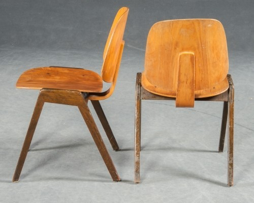 2 dinner chairs from the forties by unknown designer for Thonet