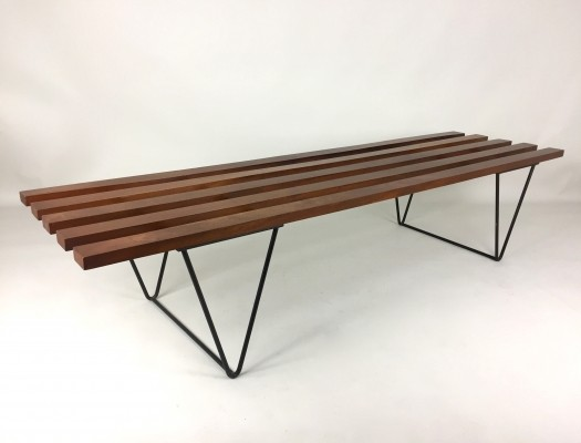 Slatted bench from the fifties by Robin Day for Hille
