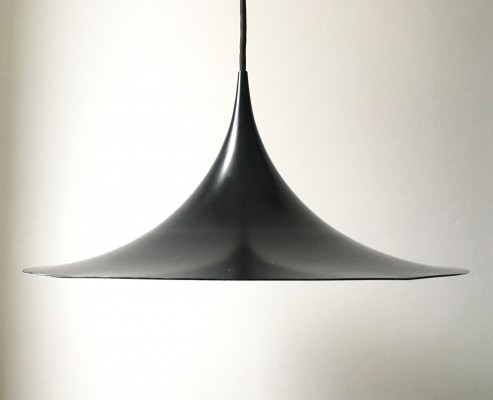 Semi pendant 47cm hanging lamp from the sixties by Claus Bonderup & Thorsten Thorup for Fog & Mørup