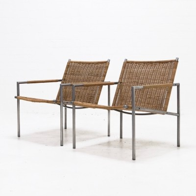 2 SZ01 lounge chairs from the fifties by Martin Visser for Spectrum