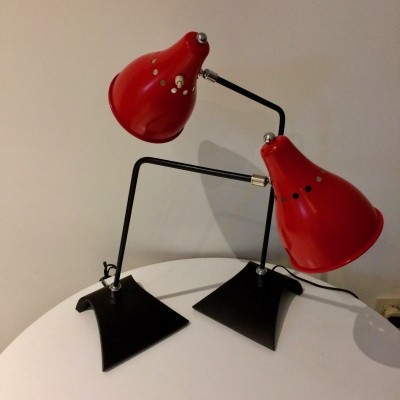 Set of 2 desk lamps from the fifties by unknown designer for Stilnovo